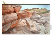 Little Castle Above Wash 3 In Valley Of Fire Carry-all Pouch
