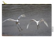 Little Egrets In Flight Carry-all Pouch