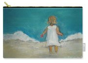 Little Girl Playing On Beach Carry-all Pouch