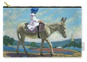 Little Girl With A Blue Bonnet Carry-all Pouch