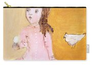 Little Girl With Her Hen Carry-all Pouch
