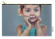 Little Girl With Purse Carry-all Pouch