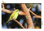 Little Green Bee Eater On A Branch Carry-all Pouch