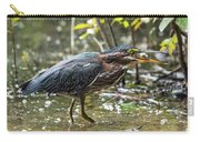 Little Green Heron With Fish Carry-all Pouch