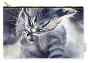 Little Grey Cat Carry-all Pouch