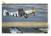 P51 Mustang Little Horse Gear Coming Up Friday At Reno Air Races 5x7 Aspect Signature Edition Carry-all Pouch by John King