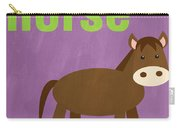 Little Horse Carry-all Pouch by Linda Woods