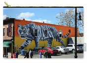 Little India In Jersey City-white Tiger Mural Carry-all Pouch