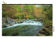Little Pigeon River Flows In Autumn In The Smoky Mountains Carry-all Pouch