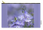 Little Purple Flowers Vertical Carry-all Pouch