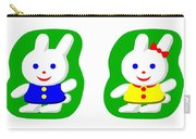 Little Rabbit Boy And Rabbit Girl Carry-all Pouch