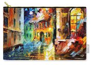Little Street - Palette Knife Oil Painting On Canvas By Leonid Afremov Carry-all Pouch