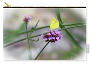Little Yellow Butterfly On Verbena Carry-all Pouch