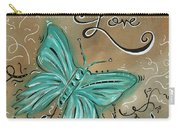 Live And Love Butterfly By Madart Carry-all Pouch