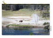 Live Dream Own Yellowstone Park Bison Text Carry-all Pouch