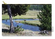 Live Dream Own Yellowstone Park Elk Herd Text Carry-all Pouch