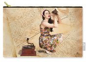 Live Music Pinup Singer Performing On Gig Guide Carry-all Pouch