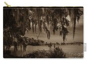 Live Oak Tree Spanigh Moss Sepia Silhouette Carry-all Pouch