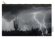 Living In Fear-signed Carry-all Pouch