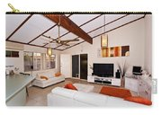 Living Room With Sloping Ceiling Carry-all Pouch