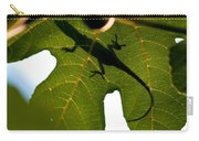 Lizard On A Fig Leaf Carry-all Pouch