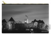 Ljubljana Castle In Black And White Carry-all Pouch