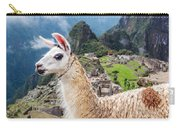Llama At Machu Picchu Carry-all Pouch