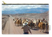 Llama Herd On Road Carry-all Pouch