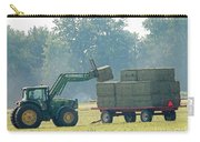 Loading Hay At Dusk Carry-all Pouch