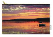 Loan Boat On A River At Sunset Carry-all Pouch