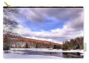 Lock And Dam Snowscape Carry-all Pouch