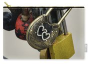 Lock With Rhinestones Carry-all Pouch