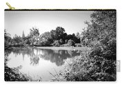 Lodi Pig Lake Reflections B And W Carry-all Pouch