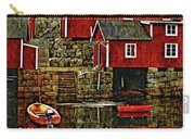 Lofoten Fishing Huts Overlay Version Carry-all Pouch