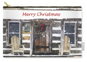 Log Cabin Christmas Carry-all Pouch