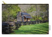 Log Cabin, Smoky Mountains, Tennessee Carry-all Pouch