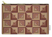 Log Cabin Reds Quilt Carry-all Pouch
