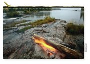 Log On Fire Manitoba Lake Wilderness Carry-all Pouch