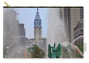 Logan Circle Fountain With City Hall In Backround 2 Carry-all Pouch by Bill Cannon
