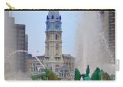 Logan Circle Fountain With City Hall In Backround 3 Carry-all Pouch