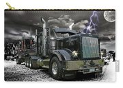 Logger On A Stormy Night Carry-all Pouch
