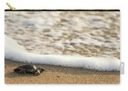 Loggerhead Turtle Hatchling 3 Delray Beach Florida Carry-all Pouch