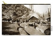 Logging With Oxen At A Saw Mill Sonoma County California Circa 1900 Carry-all Pouch