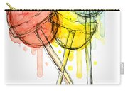 Lollipop Candy Watercolor Carry-all Pouch by Olga Shvartsur