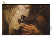 Lombard School, 17th Century Saint Catherine Of Siena Carry-all Pouch