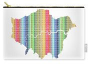 London Boroughs Map - Rainbow Carry-all Pouch