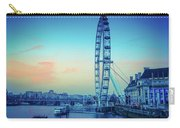 London Eye At Dusk Carry-all Pouch