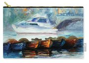 London-fog Over Thames - Palette Knife Oil Painting On Canvas By Leonid Afremov Carry-all Pouch