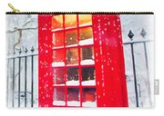 London Red Telephone Booth  Carry-all Pouch