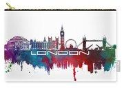 London Skyline City Blue Carry-all Pouch
